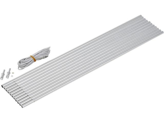 CAMPZ Aluminium Arch Pole Set 9,5mm x 5,0m grau/silber